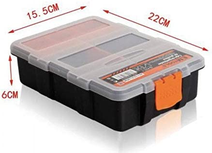 Caja de Almacenamiento de plástico de Portátil de Mano Tornillo electrónico componente Organizador Soporte con divisores Ajustables,Vario compartimentos ...