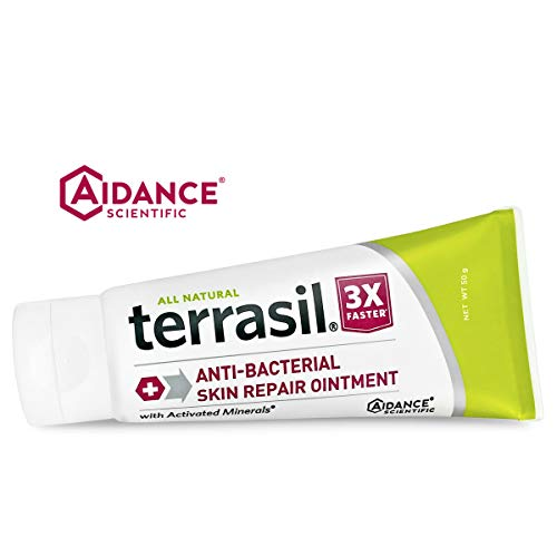 Antibacterial Skin Repair 3X Faster Dr. Recommended 100% Guaranteed All Natural Ointment Fissures Folliculitis Angular Cheilitis Impetigo Chilblains Lichen Sclerosus Boils Cellulitis by Terrasil® (Best Ointment For Boils)