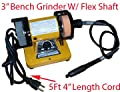 "3"" Electric Bench Grinder Stone Grinding W/ Flex Shaft"