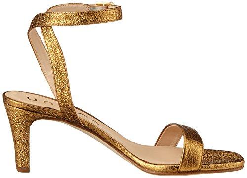 Unisa Mandi_Se, Sandali con Cinturino Alla Caviglia Donna Oro (Old Gold)