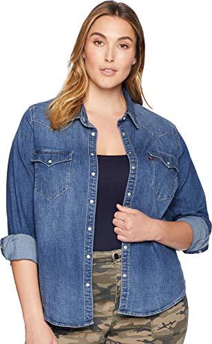 Levi's Women's Plus-Size Western Shirt, Lotta Love, 3 X (Plus Size Women Levis)