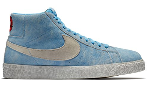 NIKE SB Zoom Blazer MID Mens Fashion-Sneakers 864349-406_8 - University Blue/Light Bone-Habanero RED (Nike Blazer)