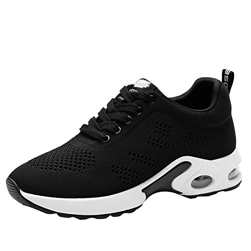 Cheap TIOSEBON Women's Air Cushion Running Shoes Lightweight Breathable Outdoor Exercise Shoes 7.5 US Black