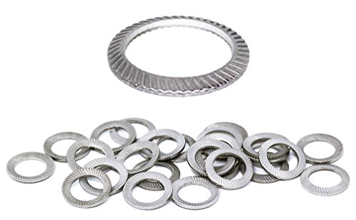 Schnorr (25pcs) M8 Stainless Brand Ribbed Safety Spring Lock Washer Metric, BelMetric WSH8SS by Schnorr (Image #4)