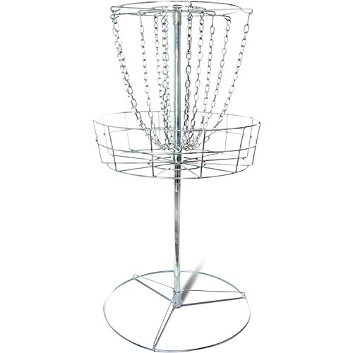Titan Disc Golf Basket Double Chains Portable Practice Target Steel frisbee hole by Titan Great Outdoors