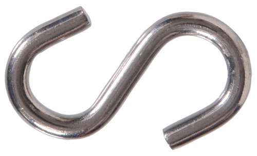 Hillman 4291 S Hook Stainless Steel 1-1/2 Inch, 15-Pack
