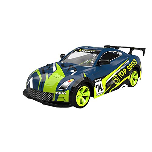 ErYao RC Drifting Car for Boys 1/14 2.4GHz 4WD 15km/h RC Truck with 0.3MP WiFi FPV Camera Sport Racing Truck Kids Toy (Green)