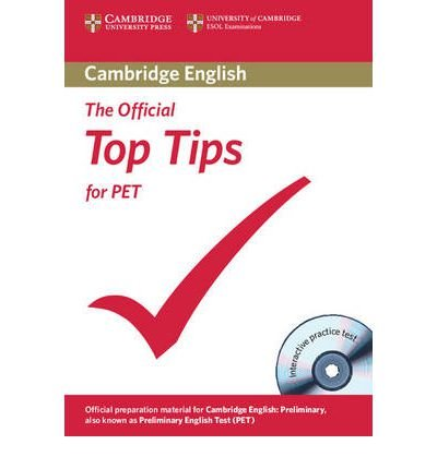 The Official Top Tips for PET Paperback with CD-ROM (Mixed media product) - Common pdf epub