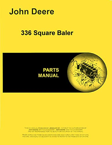 Parts Manual John Deere 336 Square Baler pc1282