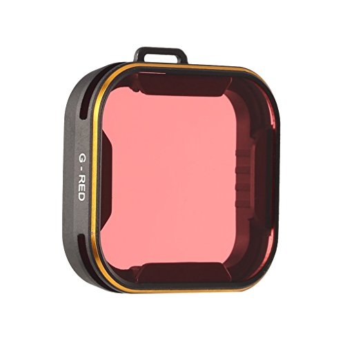 MuLuo Waterproof Optical Glass Red Lens Filter for Gopro 5 Diving Adventures Aluminum Frame