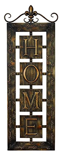 Deco 79 Metal Wall Plaque 'Home' An Intimate Wall Decor -