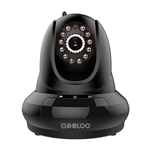 GOOLOO GOOCAM Wireless Security Surveillance Camera WiFi Video Best Cloud IP Camera System (Black)