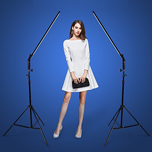 Dimmable LED Video Handheld Lights Photography Studio Continuous Output Lighting Kit with Tripod Stand for Camera Photo Studio Shooting,YouTube, Capture - 36W - 2 Pack by Konseen (Image #6)