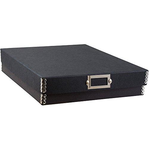 JAM PAPER File Box - 12 x 9 1/2 x 2 14/ - Black Kraft - Sold ()