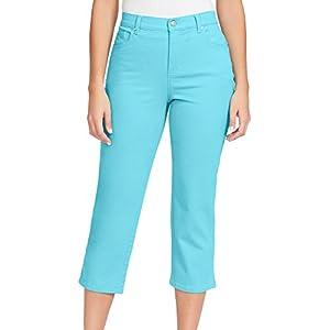 Gloria Vanderbilt Women's Amanda Capri Jeans, Sea Spray, 14