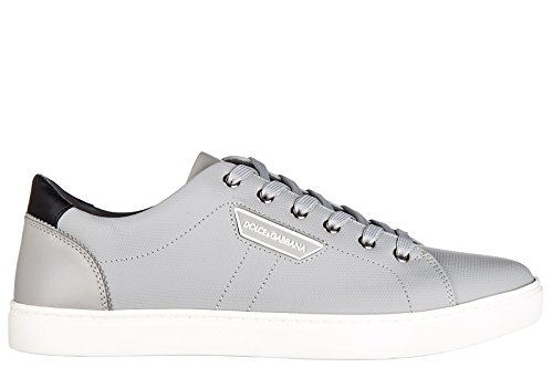 Dolce & Gabbana Men's Shoes Leather Trainers Sneakers Grey US Size 9 - 2014 Dolce And Gabbana Shoes