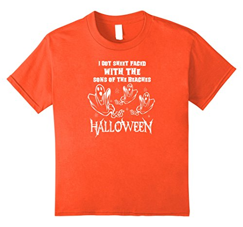 Kids I Got Sheet Faced With The Song Of The Beaches Halloween Tee 12 Orange