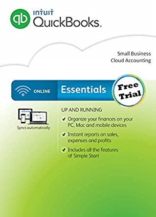 Amazoncom QuickBooks Online Essentials FREE TRIAL Software - Invoice making software free online fabric store coupon