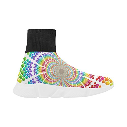 LEINTEREST tie die Unicorn Stretch Sock Shoes for Women cwxcnRu