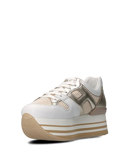 Hogan Women Hxw2830u352iga0l0s Sneakers In Pelle Bianca