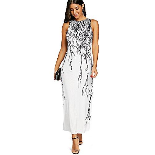 DSDUE Fantaisie Robe Costumes Pour Les Femmes Robes Pour Invit De Mariage Long Flapper Vintage Robes De Soire Pour Les Femmes Blanc