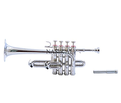 PICCOLO TRUMPET Bb PITCH NICKEL SILVER WITH CASE AND MP by Nasir ali (Image #2)