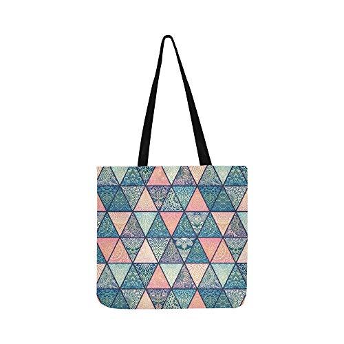 Vintage Decorative Mandalas Pattern Persian Bohemia Style Canvas Tote Handbag Shoulder Bag Crossbody Bags Purses For Men And Women Shopping Tote