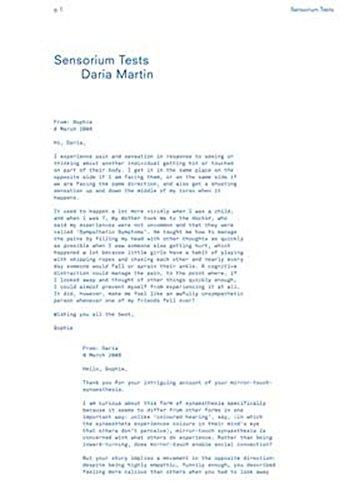 Download Daria Martin: Sensorium Tests pdf epub