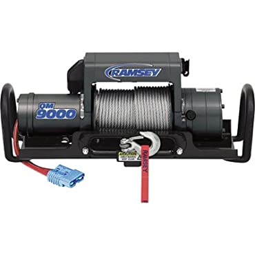 Ramsey 111040 Winch (QM, 9,000 pounds, Hawse Fairlead, Power In/Out, 5/16 x 105' Cable, 12' Remote)