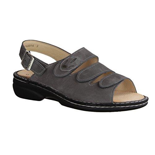 Finn Comfort salo Niki - scarpe/sandali Comodo da inserto, Grigio, (Patagonia) in pelle
