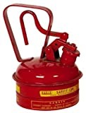 Eagle UI-2-S Red Galvanized Steel Type I Gas Safety Can, 1 quart Capacity, 8'' Height, 5.25'' Diameter