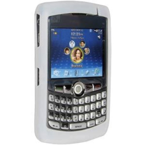 Amzer Silicone Skin Jelly Case for BlackBerry 8300 Curve - Lilly White