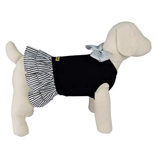 Vestido Malha Bonito pra Cachorro para Cães Preto - Tamanho P