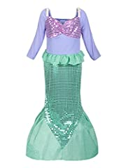 ReliBeauty Girls Sequins Mermaid Costume  The legend of mermaid is always the best bedtime stories for girls. It's a dream for every girl to become the mysterious and beautiful mermaid to get rid of arrangement and to look for true love. Now ...