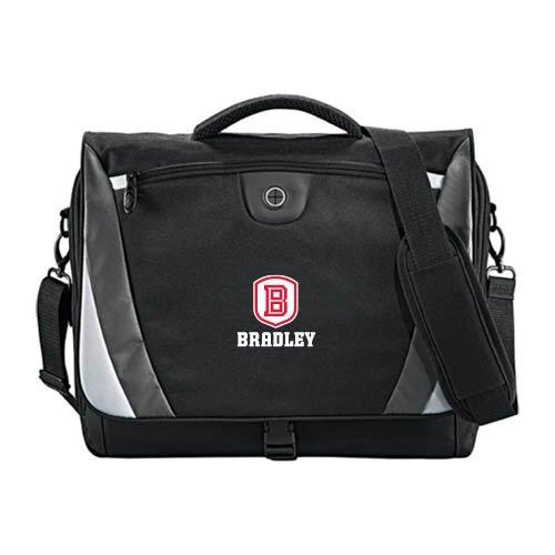 Bradley Slope Black/Grey Compu Messenger Bag 'Official Logo' by CollegeFanGear
