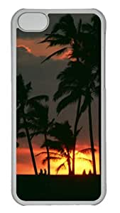 Customized Case Sunset 2 PC Transparent for Apple iPhone 5C