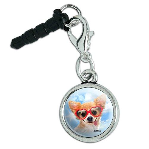 - Chihuahua Dog Heart Glasses Selfie Mobile Cell Phone Headphone Jack Anti-Dust Charm fits iPhone iPod Galaxy