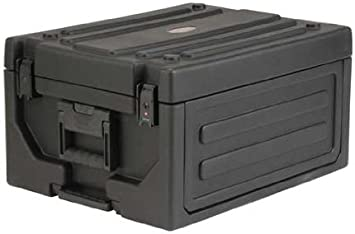 4 in-line Wheels SKB Cases 1SKB19-RSF4U Roto-Molded 4U Studio Flyer Rack Case Rotomolded 21.5 x 15.5 Surface for Laptops or LCD Screens 8 Adjustable Cleats Rack Space for Recording Gear