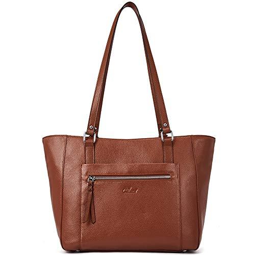 Genuine Designer Handbags - Women Handbags Soft Genuine Leather Designer Purse Large Tote Top Handle Ladies Shoulder Bag Brown