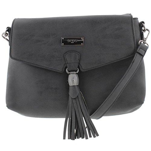 BCBG Womens Cross Body Bag - Black (Bcbg Black Bag)