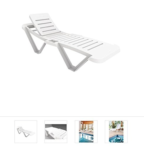 Resol CG209 Sun Lounger, White (Pack of 2)