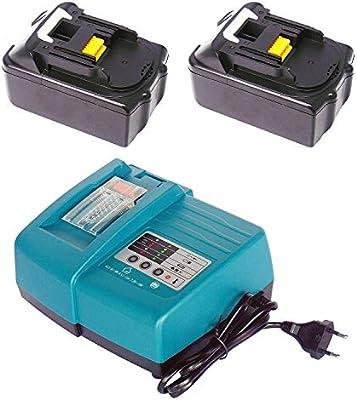 DC 18 RA Cargador de batería para Makita 7.2 ~ 18 V + 2 Packs 1830 ...