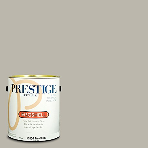 Prestige Paints Interior Paint And Primer In One  1 Gallon  Eggshell   Comparable Match Of Sherwin Williams Mindful Gray
