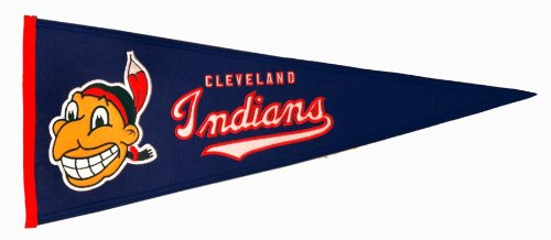 MLB Cleveland Indians Medium Throwback Pennant Cleveland Indians Mlb Applique