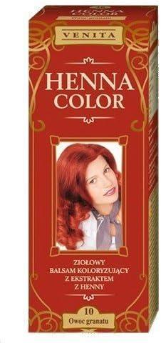 Henna Color 10 Granate Bálsamo Capilar Tinte Para Cabello Efecto De Color Tinte De Pelo Natural Gallina Eco