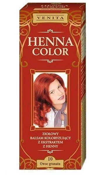 Henna Color 10 Granate Bálsamo Capilar Tinte Para Cabello ...