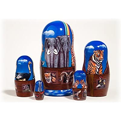 Made in Russia Noah's Ark Nesting Doll 5pc./6