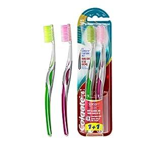 Colgate Slim Soft Advance Toothbrush - 1+1, Multi Color