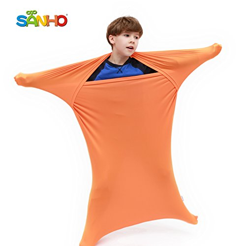 Sanho Premium Sensory Sock,Updated Version, Medium, 50 L x 24 W, Good for Height:47- 63 Orange