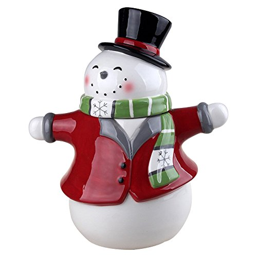 Comfy Hour 11' Winter Holiday Christmas Snowman Cookie Jar